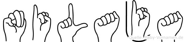 Nilaja im Fingeralphabet der Deutschen Gebärdensprache