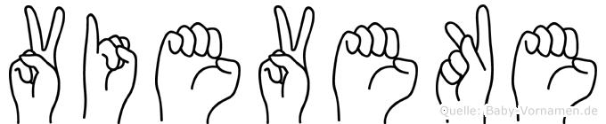 Vieveke im Fingeralphabet der Deutschen Gebärdensprache