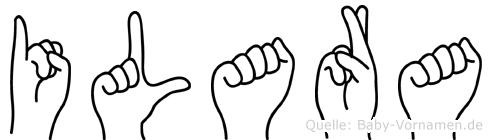 Ilara im Fingeralphabet der Deutschen Gebärdensprache