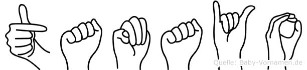 Tamayo im Fingeralphabet der Deutschen Gebärdensprache