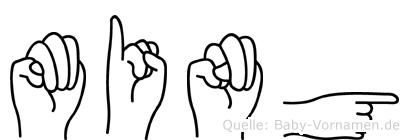 Ming in Fingersprache für Gehörlose