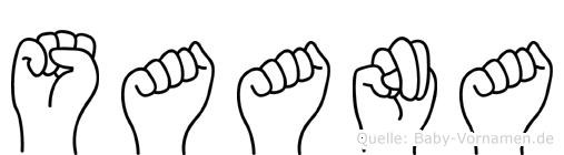 Saana in Fingersprache für Gehörlose
