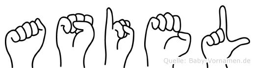 Asiel im Fingeralphabet der Deutschen Gebärdensprache