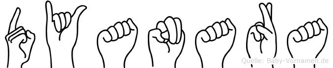 Dyanara in Fingersprache für Gehörlose