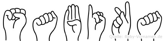 Sabika in Fingersprache für Gehörlose