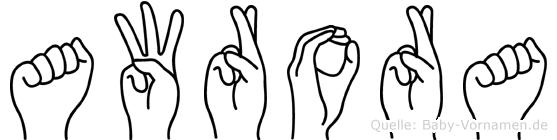 Awrora in Fingersprache für Gehörlose