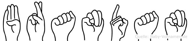 Brandan in Fingersprache für Gehörlose
