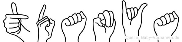 Tüdanya in Fingersprache für Gehörlose