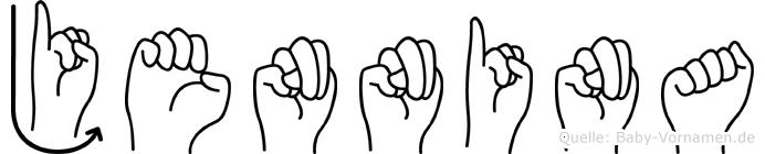 Jennina in Fingersprache für Gehörlose