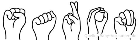 Saron in Fingersprache für Gehörlose