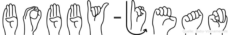 Bobby-Jean im Fingeralphabet der Deutschen Gebärdensprache