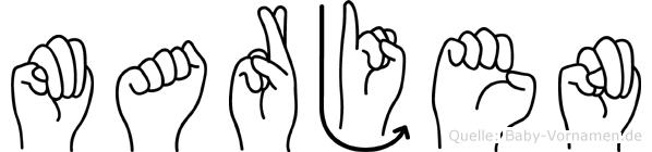 Marjen in Fingersprache für Gehörlose