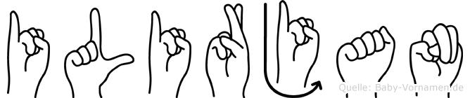 Ilirjan in Fingersprache für Gehörlose