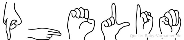 Phelim in Fingersprache für Gehörlose