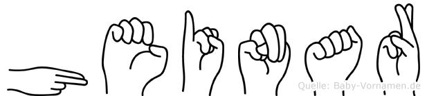 Heinar in Fingersprache für Gehörlose