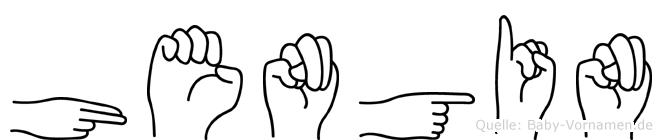 Hengin in Fingersprache für Gehörlose