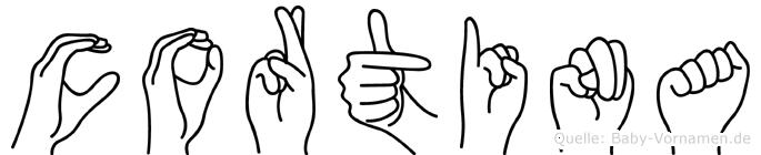 Cortina in Fingersprache für Gehörlose