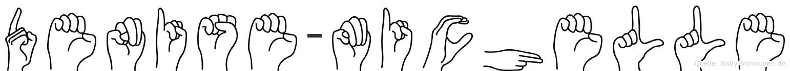 Denise-Michelle im Fingeralphabet der Deutschen Gebärdensprache