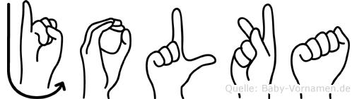 Jolka in Fingersprache für Gehörlose