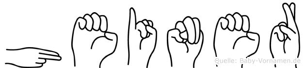 Heiner in Fingersprache für Gehörlose