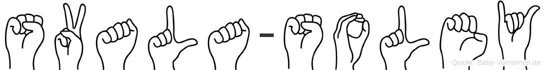 Svala-Soley im Fingeralphabet der Deutschen Gebärdensprache