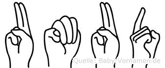 Umud in Fingersprache für Gehörlose