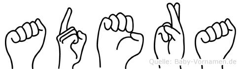 Adera in Fingersprache für Gehörlose