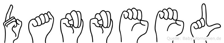 Danneel im Fingeralphabet der Deutschen Gebärdensprache