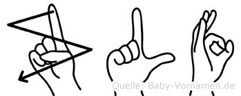 Zülfü im Fingeralphabet der Deutschen Gebärdensprache