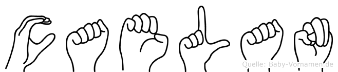 Caelan im Fingeralphabet der Deutschen Gebärdensprache