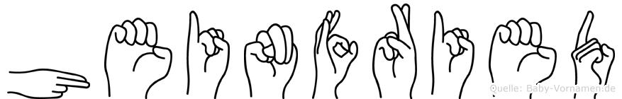 Heinfried in Fingersprache für Gehörlose