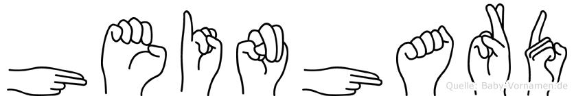 Heinhard in Fingersprache für Gehörlose