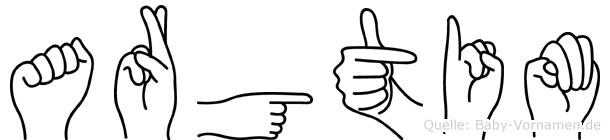 Argtim in Fingersprache für Gehörlose