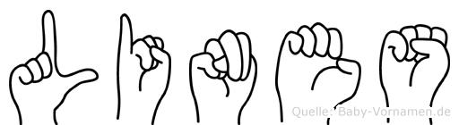 Lines im Fingeralphabet der Deutschen Gebärdensprache