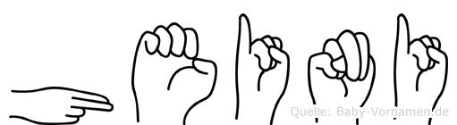 Heini im Fingeralphabet der Deutschen Gebärdensprache
