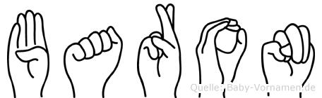 Baron in Fingersprache für Gehörlose