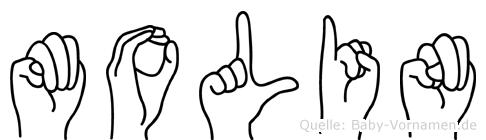Molin in Fingersprache für Gehörlose