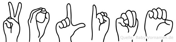 Voline in Fingersprache für Gehörlose