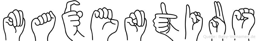 Maxentius in Fingersprache für Gehörlose