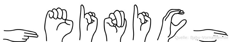 Heinich in Fingersprache für Gehörlose