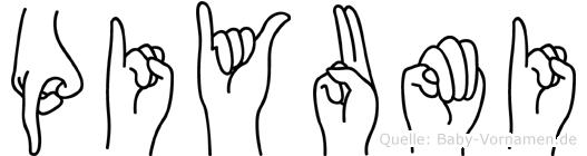 Piyumi im Fingeralphabet der Deutschen Gebärdensprache