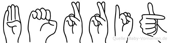 Berrit in Fingersprache für Gehörlose
