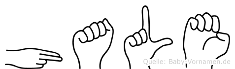 Hale im Fingeralphabet der Deutschen Gebärdensprache