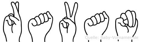 Ravan im Fingeralphabet der Deutschen Gebärdensprache