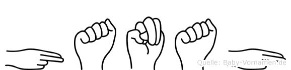 Hanah in Fingersprache für Gehörlose