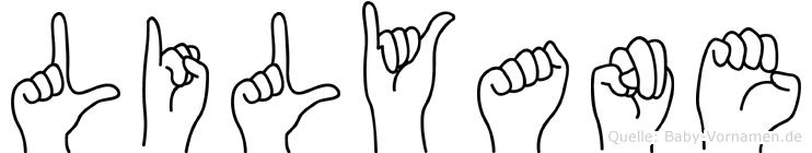 Lilyane im Fingeralphabet der Deutschen Gebärdensprache
