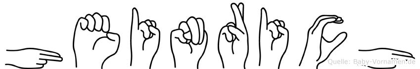 Heinrich im Fingeralphabet der Deutschen Gebärdensprache
