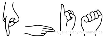 Phia in Fingersprache für Gehörlose