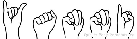 Yanni im Fingeralphabet der Deutschen Gebärdensprache