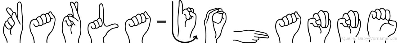 Karla-Johanne im Fingeralphabet der Deutschen Gebärdensprache